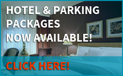 Hotel and Parking packages now available